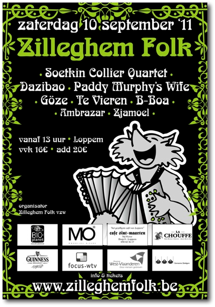 Affiche Zilleghem Folk van 10 september 2011