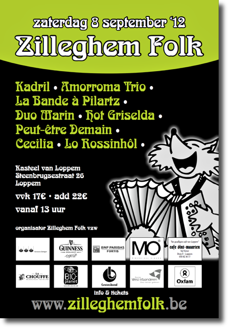 Affiche Zilleghem Folk van 8 september 2012