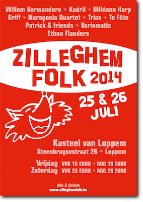 Affiche Zilleghem Folk van 25 en 26 juli 2014