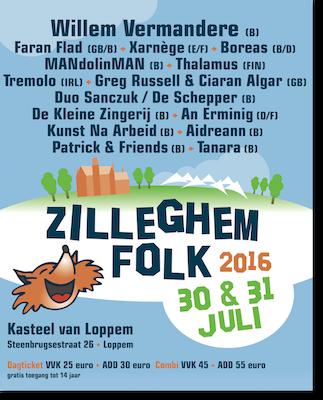 Affiche Zilleghem Folk van 25 en 26 juli 2015