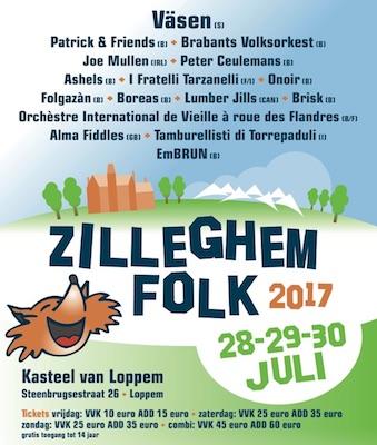 Affiche Zilleghem Folk van 28, 29 en 30 juli 2017